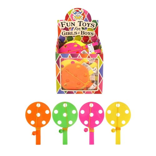 12 Paddle bat and ball games - Party bag or Christmas stocking fillers