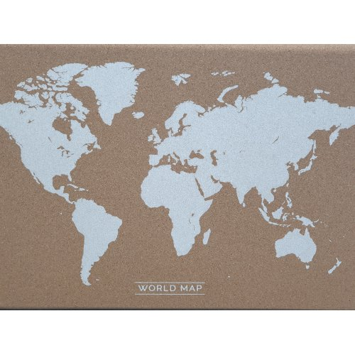 Decorative Pinboard * World Map Cork Board 40x60cm With Pins wall hanging