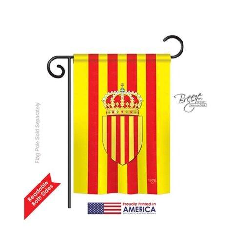 Breeze Decor 58183 Catalonia 2-Sided Impression Garden Flag - 13 x 18.5 in.