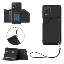 Case with strap for Samsung Galaxy A12 Black