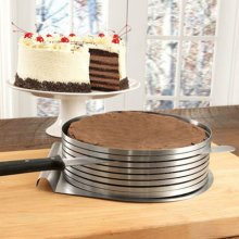 Stainless Steel Layer Cake Slicer Mousse Slicing Setting Ring Round