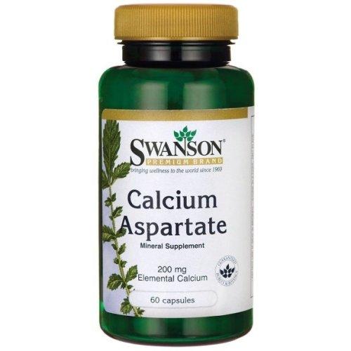 Swanson  Calcium Aspartate,  200mg Elemental Calcium - 60 caps