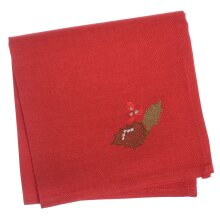 "Pack Of 4 Square Fabric Table Napkins Material Serviette For Christmas 16x16"" - Holly Red"