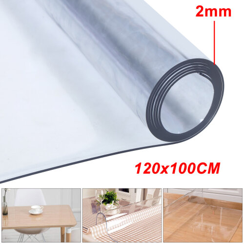 120*100cm Waterproof Clear PVC Tablecloth Transparent Table Protector