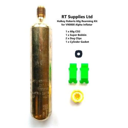 (60g CO2) Lifejacket Rearming Kit Halkey Roberts Alpha Inflator