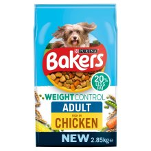 Bakers Weight Control Chicken And Vegetables 2.85Kg - Case of 4 (11.4Kg)